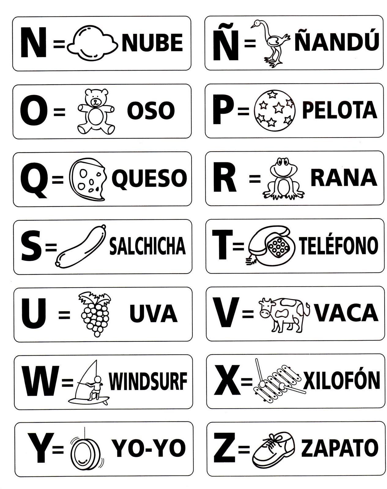 Recursos Y Actividades Para Educacion Infantil Abecedarios Para Colorear Con Dibujos Letras Del Abecedario Abecedario Para Imprimir Aprender El Abecedario