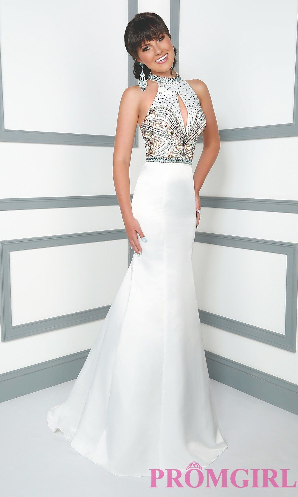Long high neck prom dress from mon cheri le gala from
