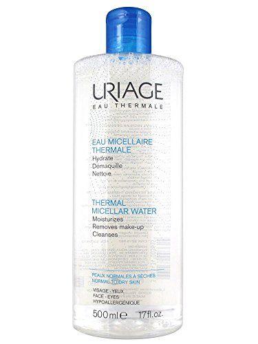 Uriage Thermal Micellar Water Dry Skin 8.4 fl. oz. Spa Bella Ultimate Large Eye Mask, Pink