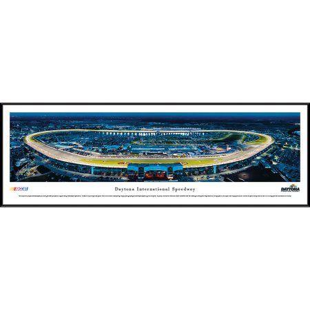Daytona International Speedway at Night - Blakeway Panoramas Nascar Print with Standard Frame