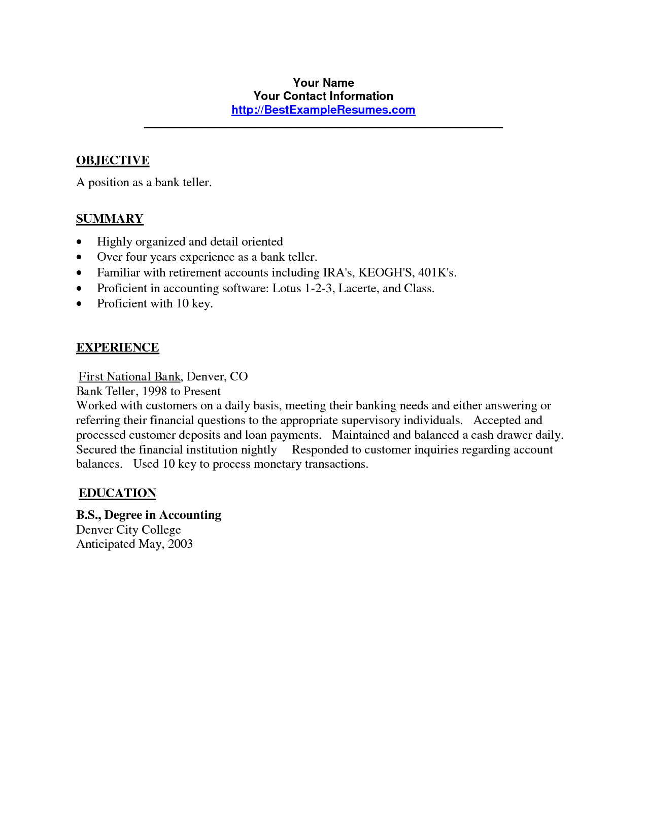 Perfect Resume Cover Letter And Bartender Summary Sample