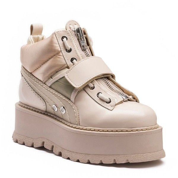d161c8447c5 Fenty Puma x Rihanna Womens Strap Platform Sneaker Boots (1