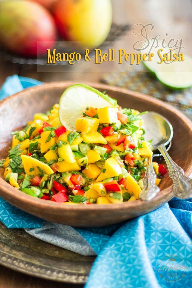 Spicy Mango Salsa | thehealthyfoodie.com
