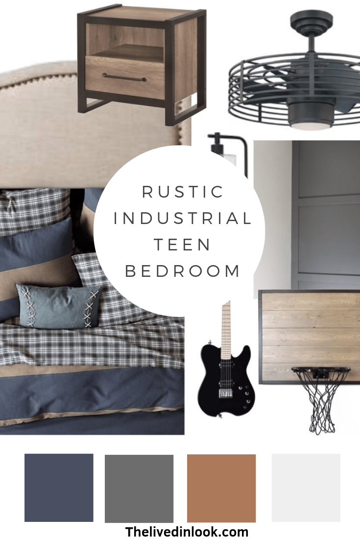Rustic Industrial Bedroom Design For Boys The Lived In Look Boys Room Design Industrial Bedroom Design Room Design Bedroom