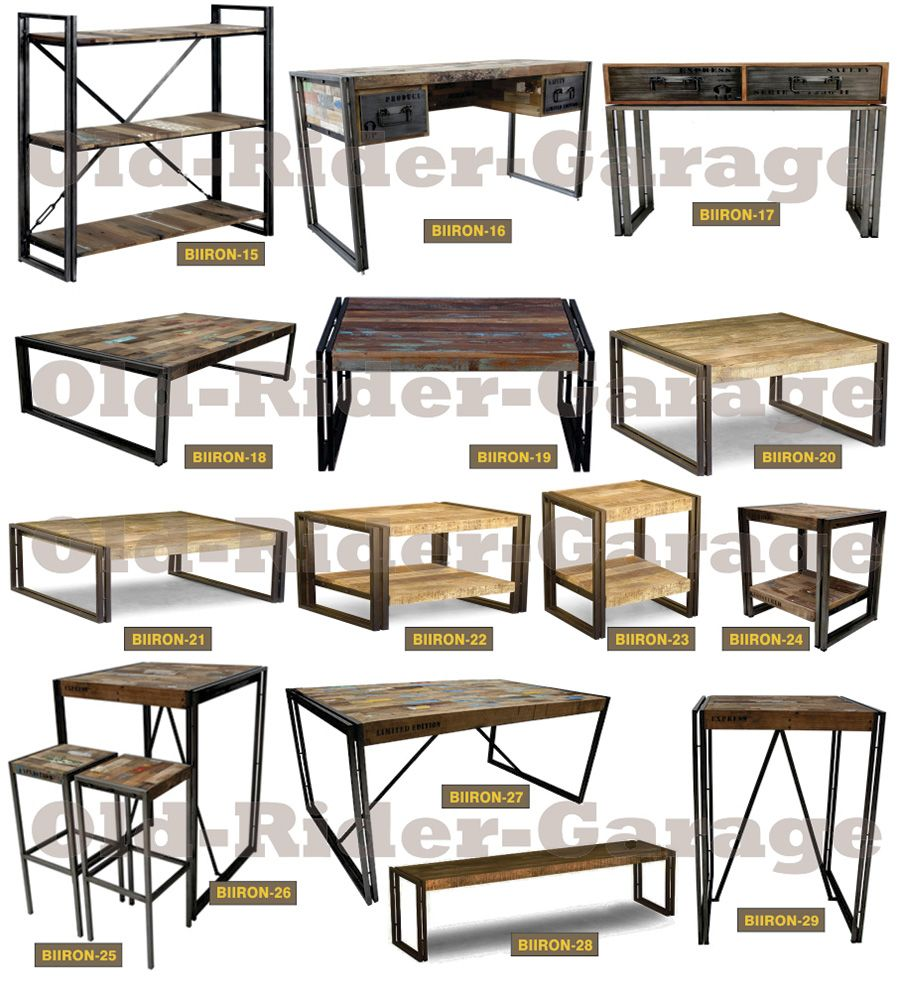 Old rider muebles vintage muebles for Muebles industriales