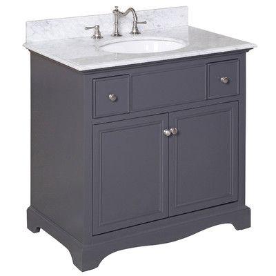 """Kbc Emily 36"""" Single Sink Bathroom Vanity Set & Reviews  Wayfair Classy Wayfair Bathroom Sinks Decorating Design"""