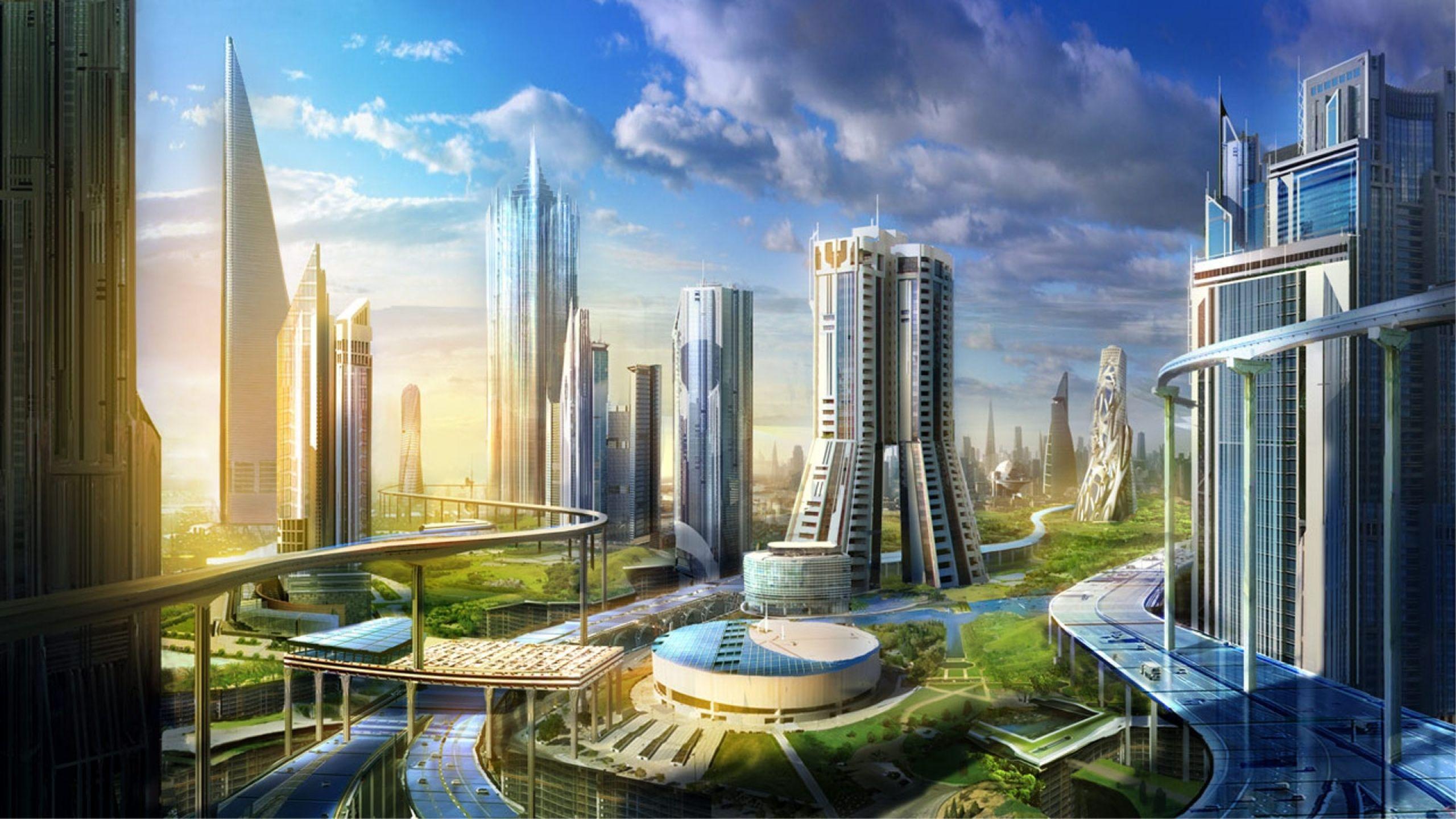 futuristic houses | 2560x1440 cityscapes futuristic architecture