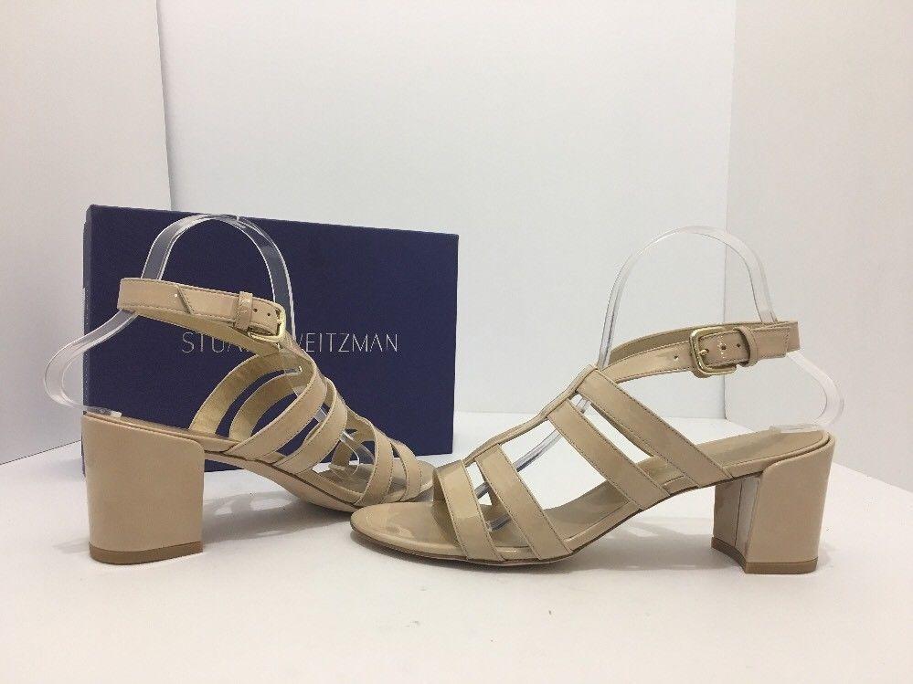 f12280ce5 Stuart Weitzman Charol Women s Heels Sandals Naked Nude Patent Leather Size  9.5  StuartWeitzman  HeelsSandals  Casual