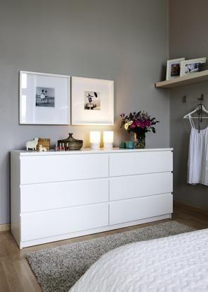Zuhause Wohnen und Ikea gestalten um Grau, Schlafzimmer und Wohnen - schlafzimmer weiß grau