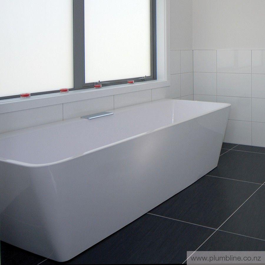 City Freestanding Back To Wall Bath Progetto Stone Baths