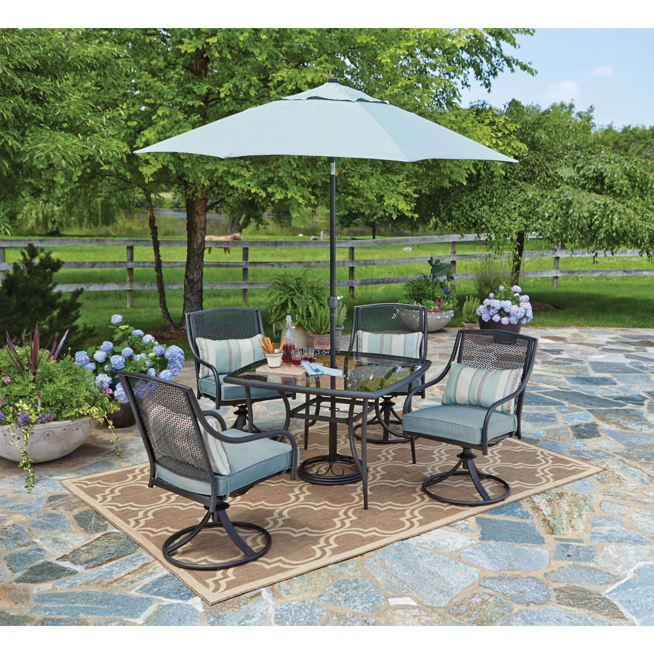 Living Accents Addison 5 Piece Dining Set All Patio