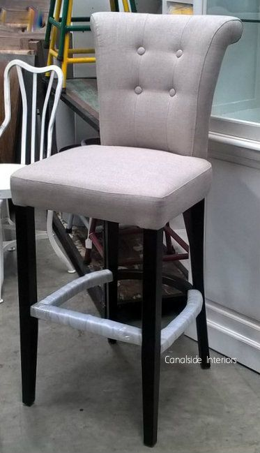 Montague Upholstered Buttoned Back Bar Stool