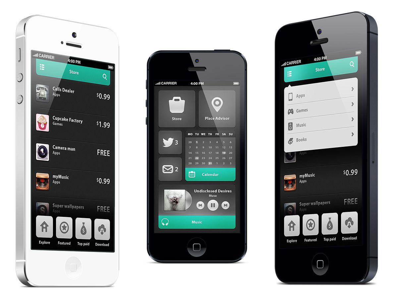 Pin on Mobile UI