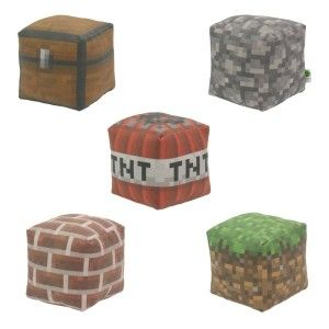 Minecraft plush blocks 9 year old boys gifts minecraft - Cool things to buy for your room ...