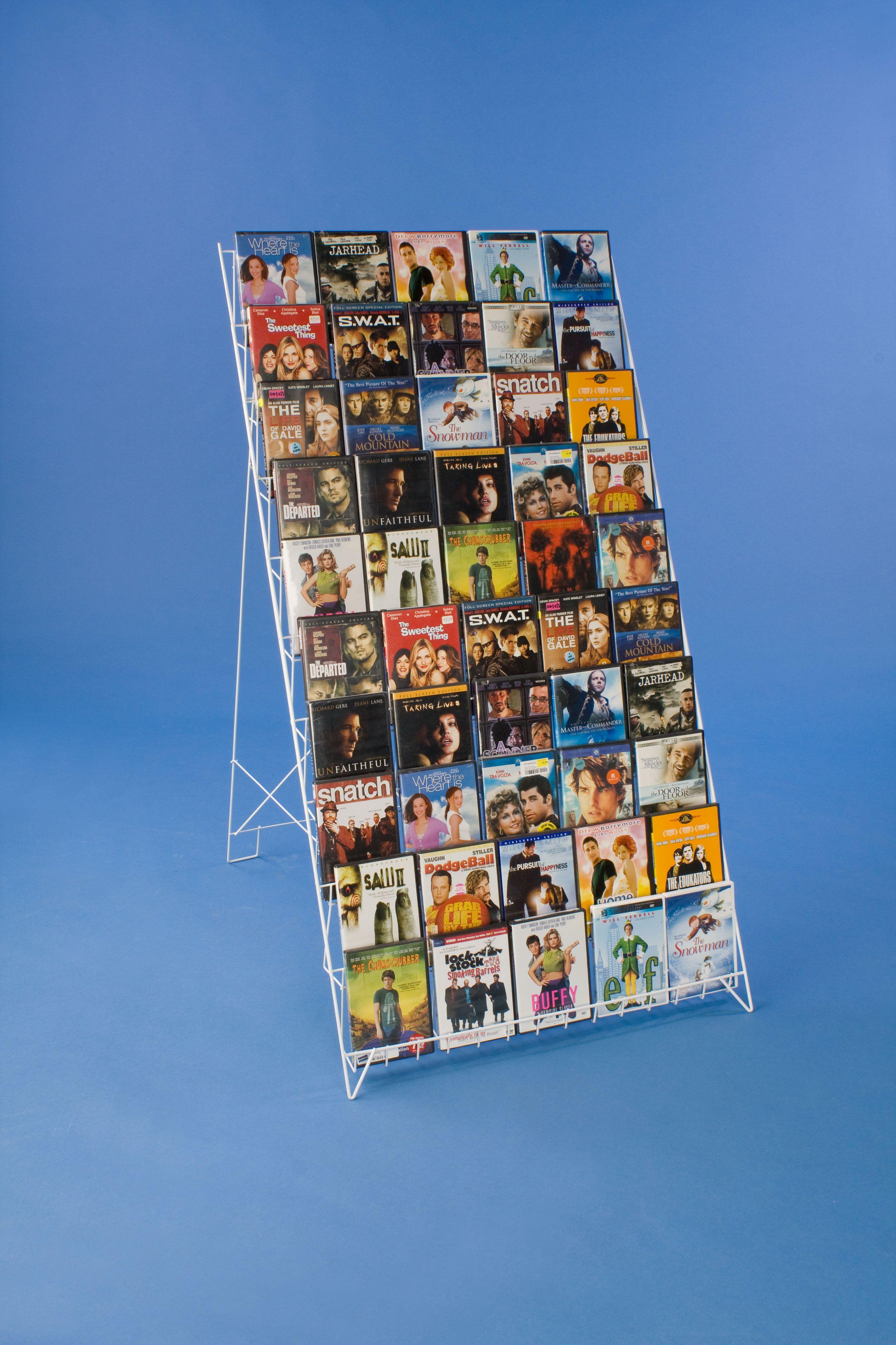 10 Tiered Wire Literature Floor Stand 4 8 5 W Open Shelves Header White Book Display Stand Magazine Display Rack Comic Book Storage