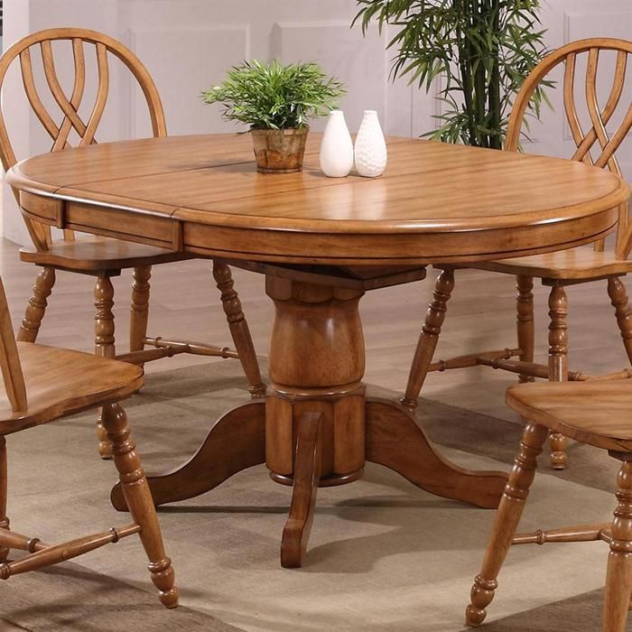 Missouri Round Dining Table Black Rustic Oak Eci: ECI Furniture Solid Oak Single