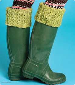 Quick Gifts to Knit – Boot Cuffs, Wrist Warmers, Ski Bands – free patterns – Grandmother's Pattern Book #bootcuffs