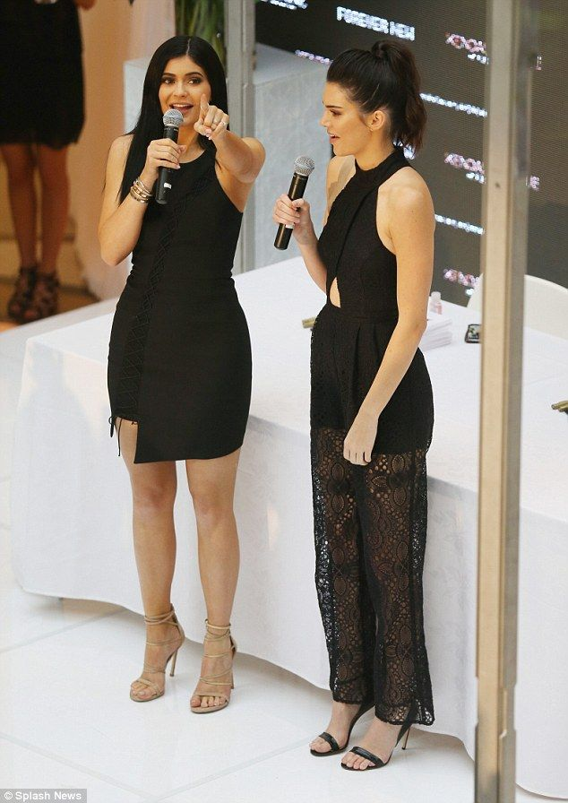 8b78d39b3d1 Kylie and Kendall Jenner promote new clothing line in Melbourne ...