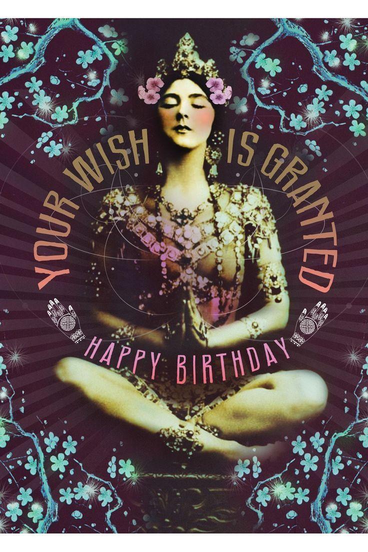 Papaya Art Granted Wish Greeting Card Happy birthday