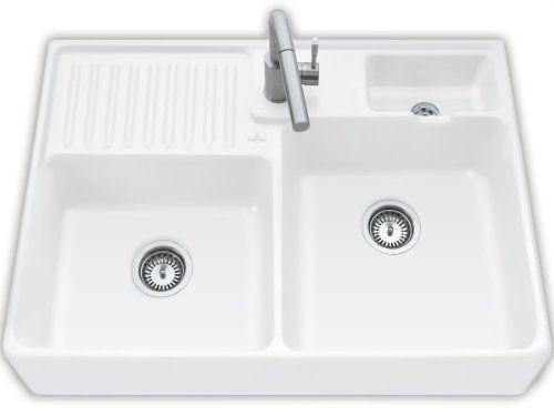 Villeroy \ Boch Spülstein Doppelbecken Edelweiss Weiß Modul - villeroy und boch küchenarmaturen