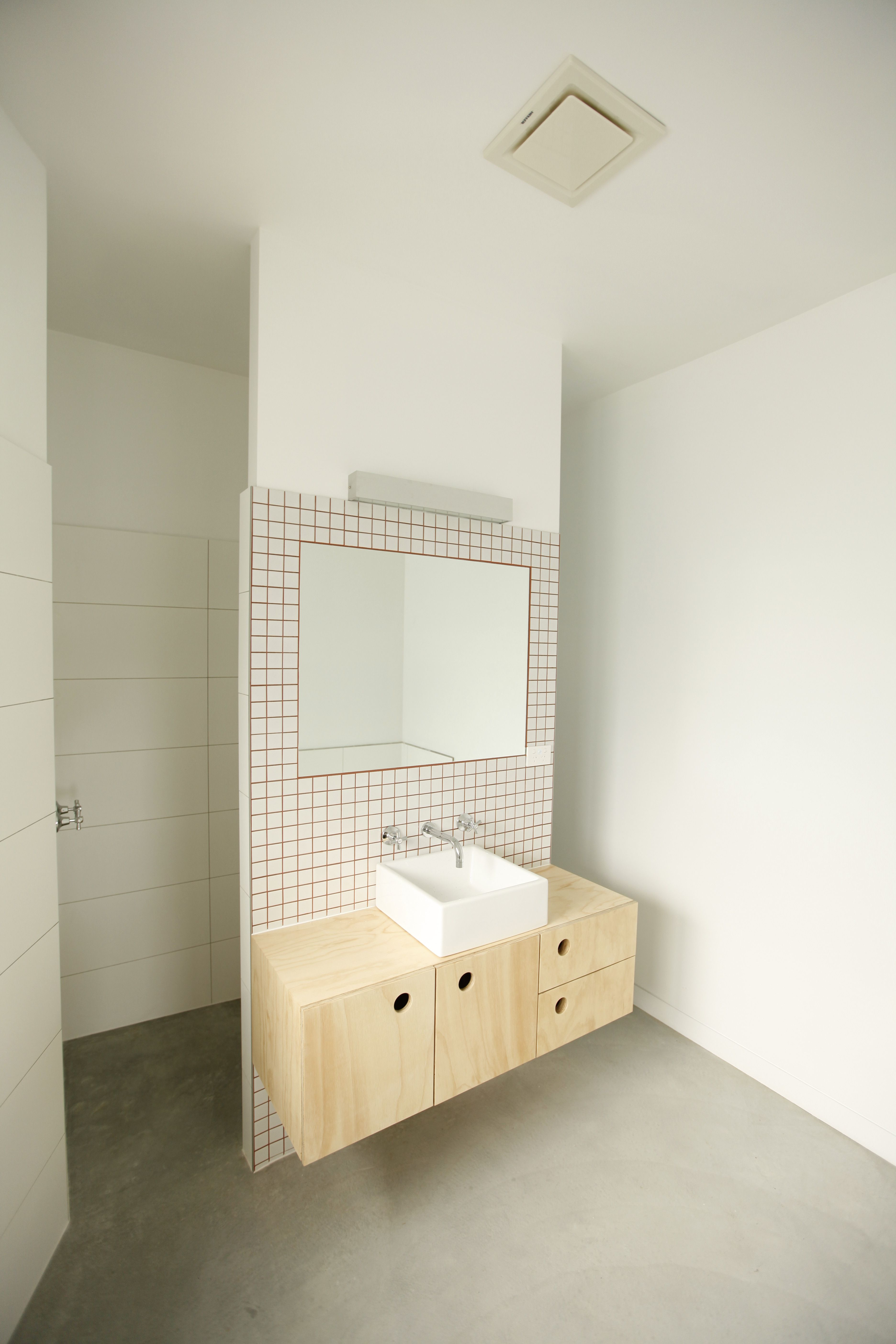 Bathroom with red grout liverpool cres build for dock 4 for Bathroom builders liverpool