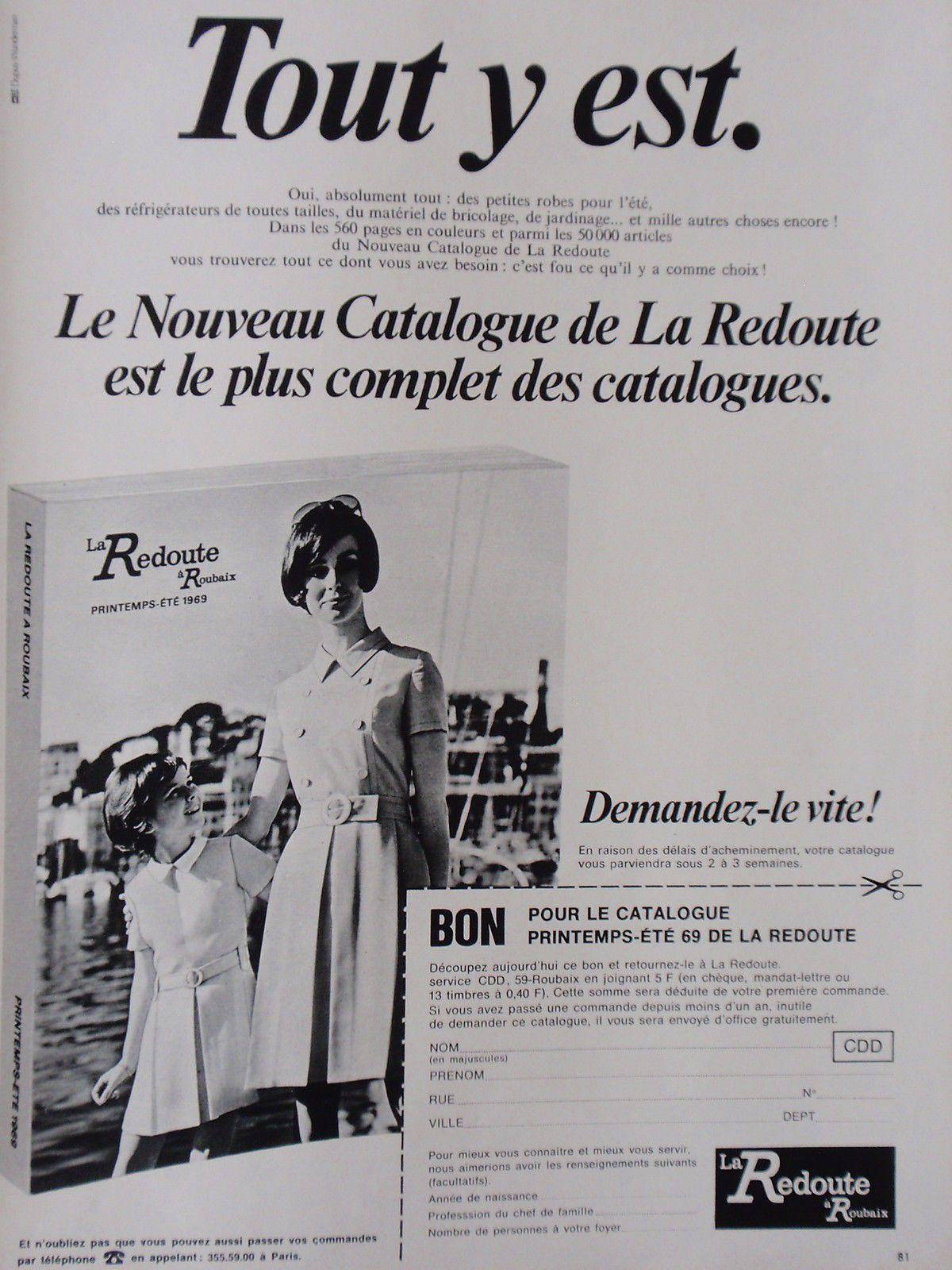 publicité advertising la redoute catalogue 1969 rÉf 6402 | ebay
