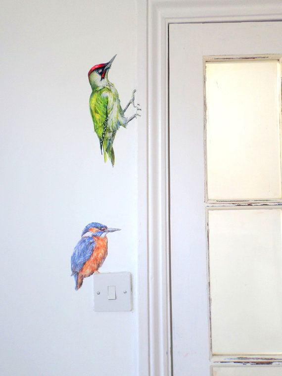 Kingfisher Wall Sticker Kingfisher Gifts Bird Home Decor Bird