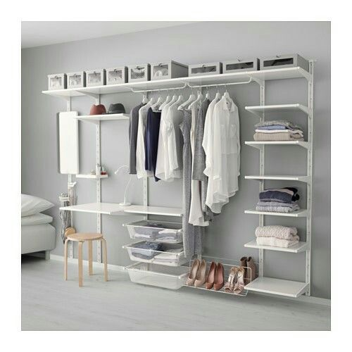 IKEA ALGOT Wall Upright Shelf Triple Hook White Cm The Parts In Series Can Be Combined Many Different Ways And So Easily