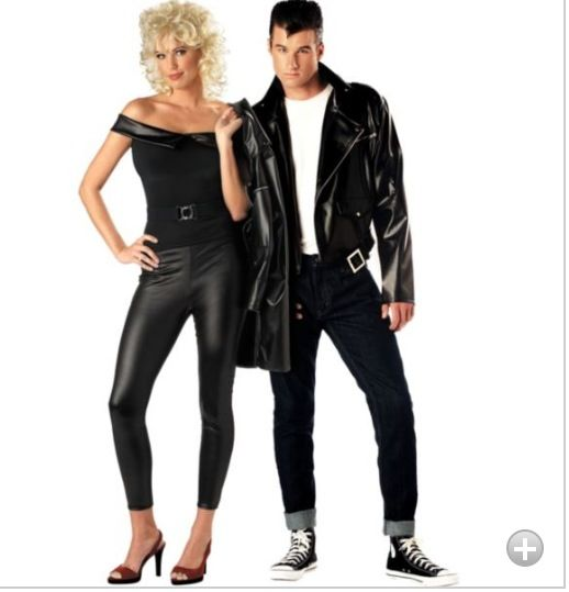 grease sandy and danny couples costumes tv movie costumes couples costumes couples group costumes halloween costumes categories party city - Hollywood Couples Halloween Costumes