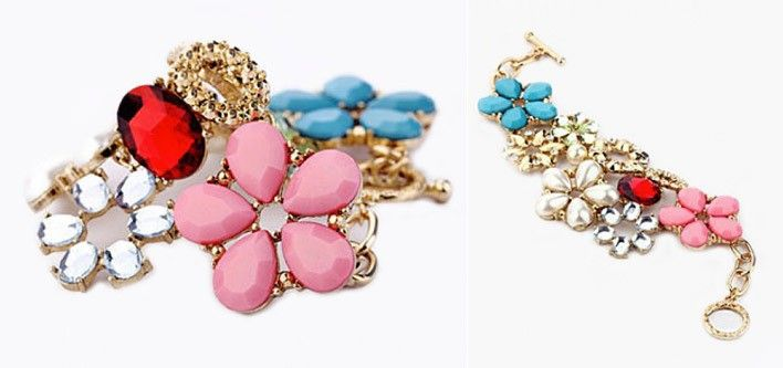 $14 for an 18K Gold Plated Flower Blossom Cuff Bracelet