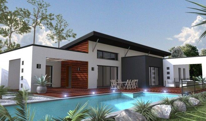 plan maison contemporaine toit plat - Recherche Google maison
