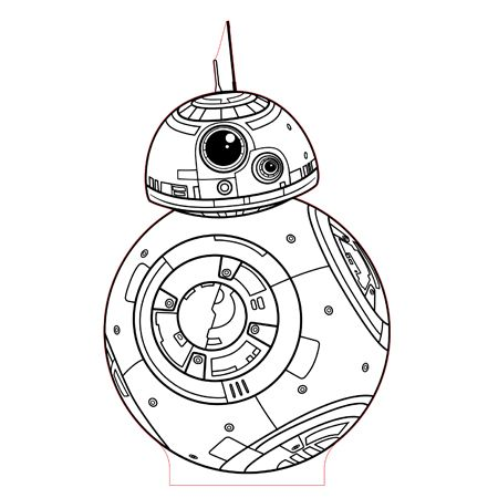 Bb8 3d Illusion Lamp Plan Vector File For Cnc 3bee Studio