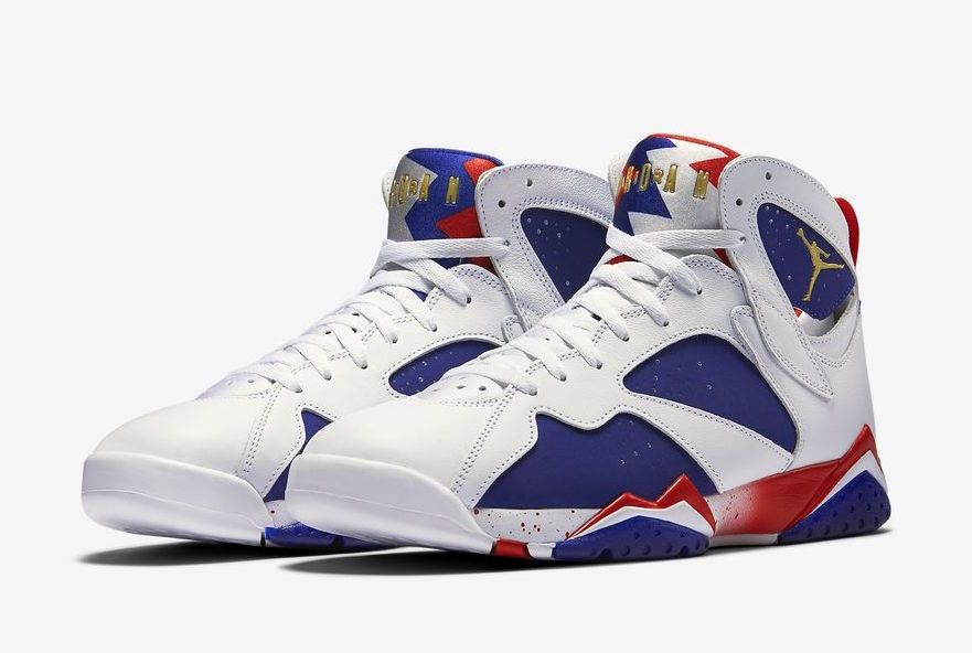 separation shoes 874d5 e38f5 Nike Air Jordan 7 VII Retro Sz 12 Olympic Alternate Tinker Red White 304775  123   eBay