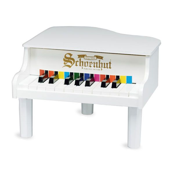 White Mini Grand By Schoenhut