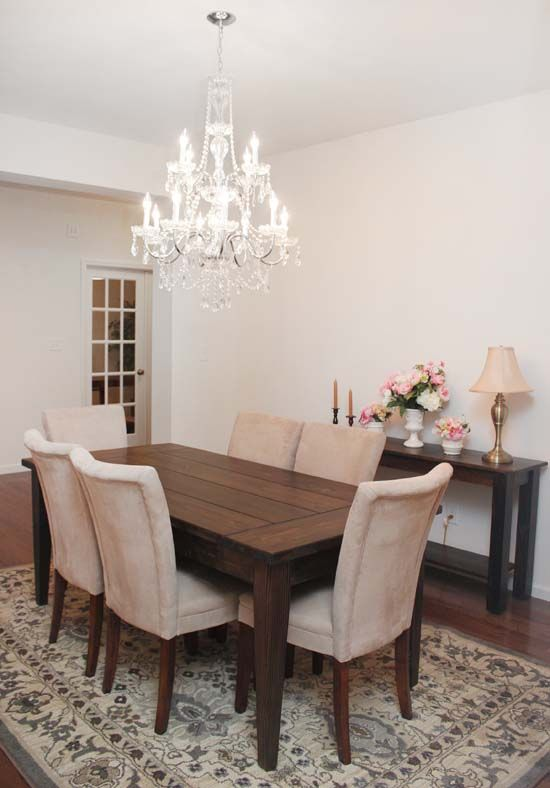 Dining Room Farmhouse Table  Chandeliers Room And Costco Pleasing Chandelier Kitchen Inspiration Design