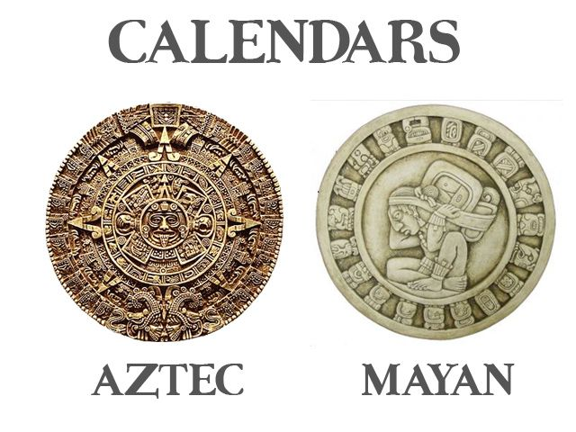 Aztec vs Mayan calendar wheels MesoAmerican MayanAztec tob