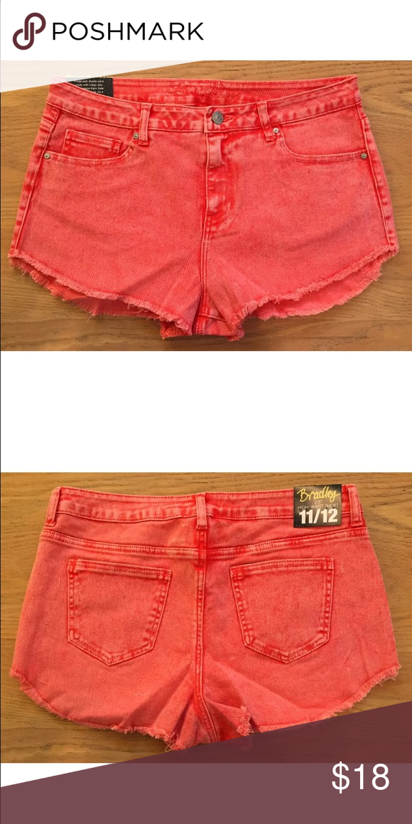 644569868e NEW Delias Red Jean Shorts High Waist Size 11/12 Delias Shorts Size ...