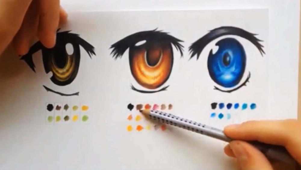 How To Color Using Colored Pencils Manga Eyes Manga Eyes Anime Drawings Anime Eyes