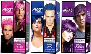 Splat Is A Great Kit Although Rather Messy To Use To Achieve A Neon Unnatural Color You Can Also Just Dye A S Splat Hair Dye Diy Hair Color Splat Hair Color