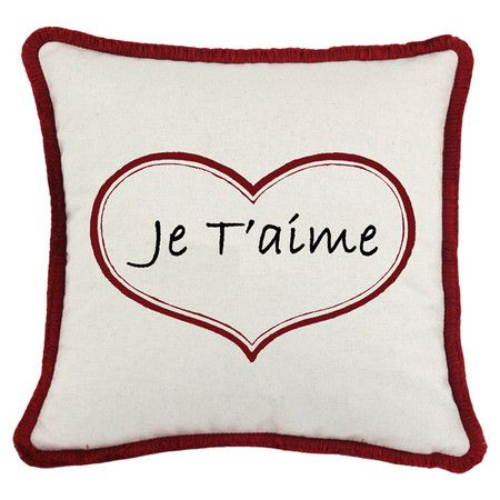 I pinned this Je T'aime Pillow from the Home is Where the Heart Is event at Joss and Main!