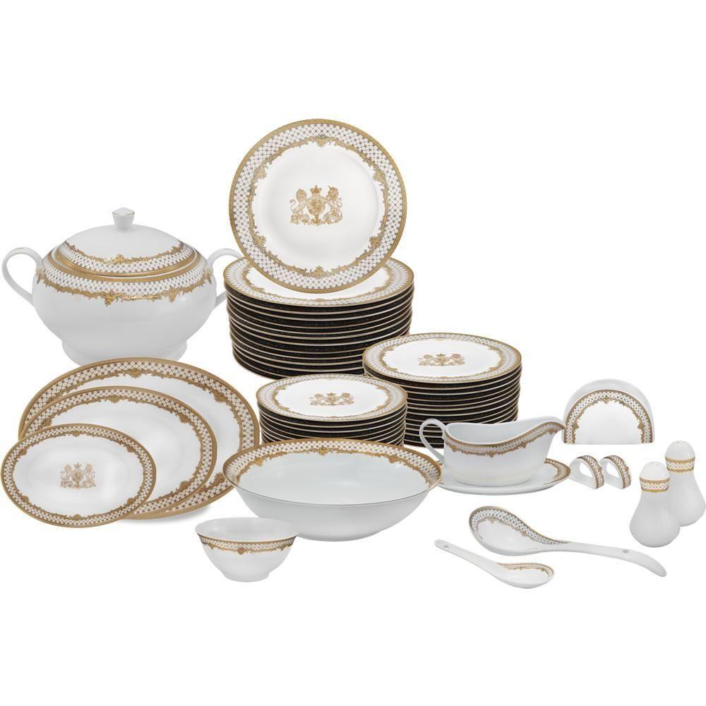Aparelho De Jantar 84 Pecas King Porcelana Americanas Com