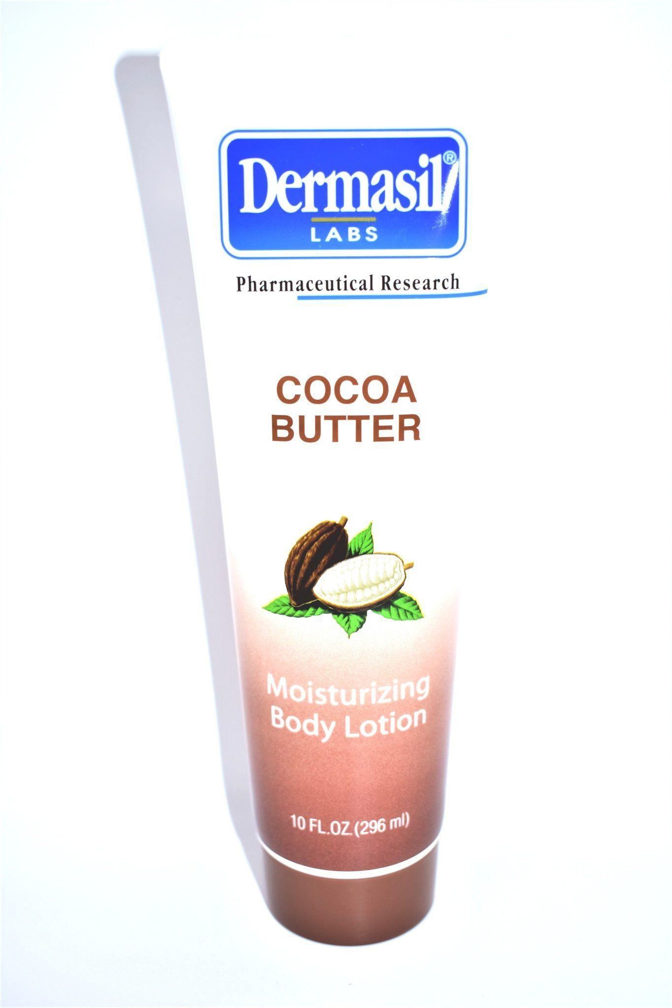 Dermasil Labs Cocoa Butter Moisturizing Body Lotion 10 Fl Oz Body Lotion Moisturizing Body Lotion Cocoa Butter