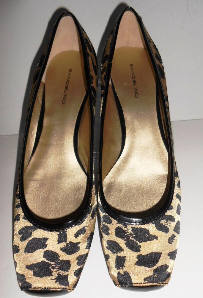e0beffc8bd0f Womens Shoes Ballet Flats 10M Fabric Leather Animal Leopard Print Bandolino  New  Bandolino  Ballet  Casual