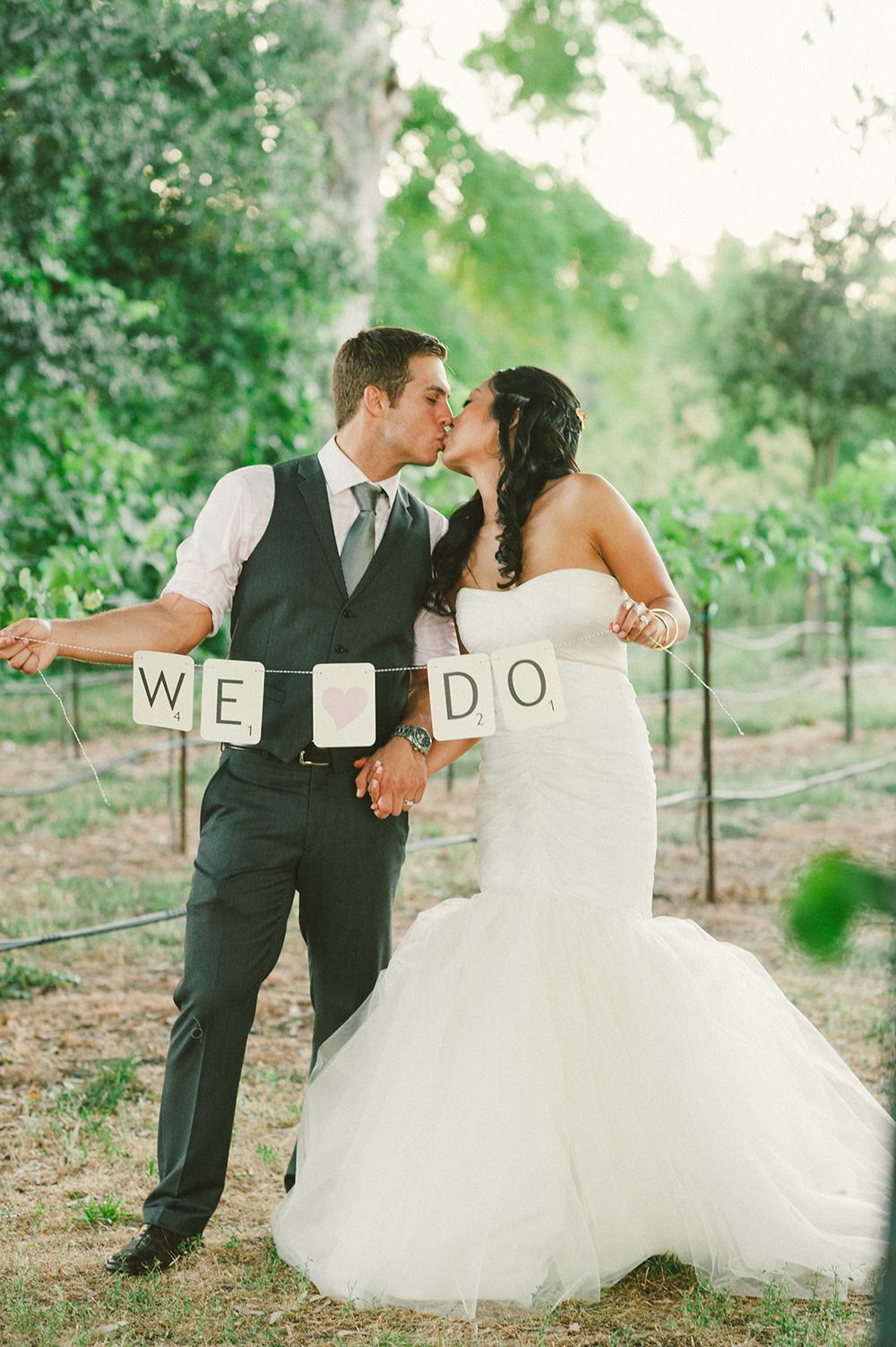 Colorful Vineyard Wedding In Lodi California Wedding Signs
