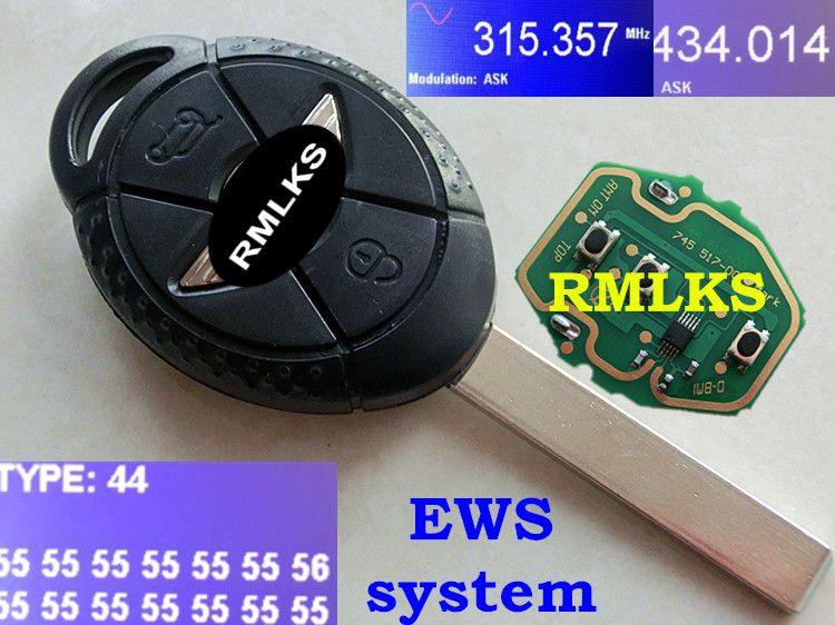 Rmlks 3 Button Full Remote Key Replacement Car Key 315mhz 433mhz