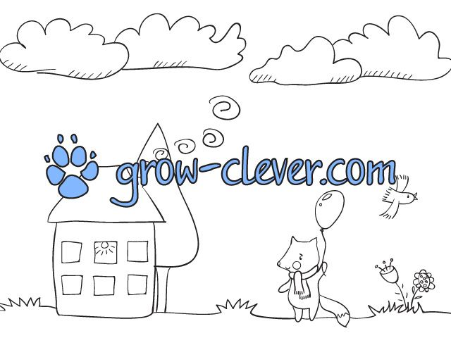cloudy weather coloring pages - photo#20