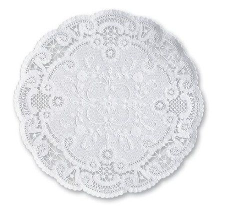 "12/"" Round White French Lace Paper Doily Doilies Party Decoration Inches 25"