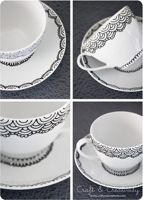 Handpainted cup and saucer #tazasceramica