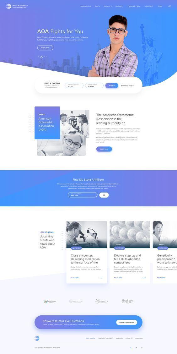 Aoa Design Web Design School Web Design Inspiration Layout Medical Website Design