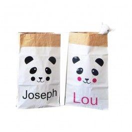 Little-boudoir.com - Paper Bag personnalisable panda